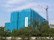 医療施設新築工事(外部足場)