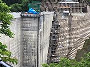 ダム施設建築工事(外部、内部足場)
