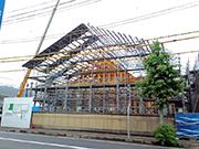 寺院新築工事(素屋根足場)