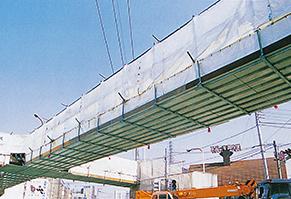 歩道橋塗装補修工事(合板使用例)